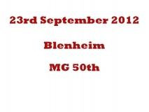 Blenheim MG 50th 23-09-12