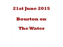 Bourton on the Water 26-06-15