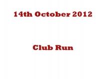 Club Run 14-10-12