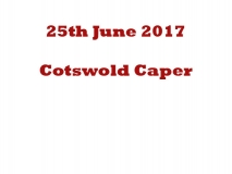 Cotswold Caper 25-06-17