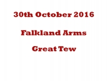 Falkland Arms Great Tew 30-10-16