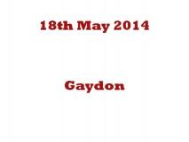Gaydon 18-05-14
