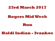 Rogers Midweek Curry Run 23-03-17