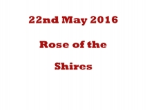 Rose of the Shires 2015