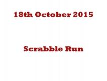 Scrabble run 18th Oct 15