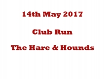 The Hare and Hounds Club Run 14-05-17
