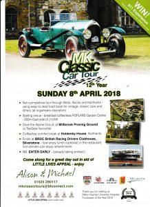 MK Classic Car Tour 8th April 2018